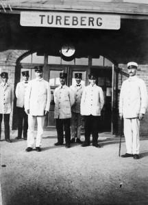 Turebergs station 1918. Sollentuna kommuns bildarkiv.