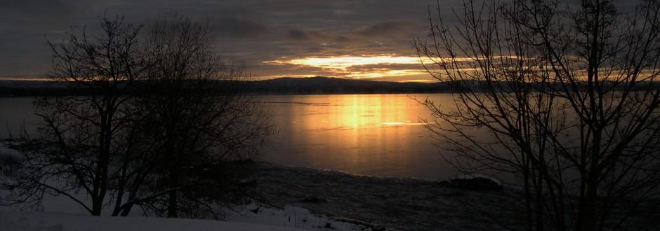 Rättvik, solnedgång.  Foto: Rolf Olsson.