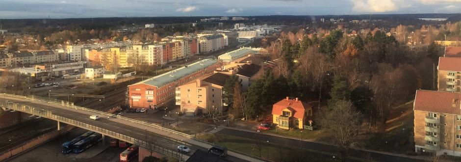 Vy från Turebergshuset vån. 13. Foto: Rolf Olsson